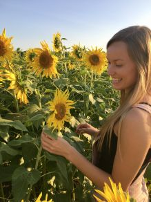 me with sunflowers 2